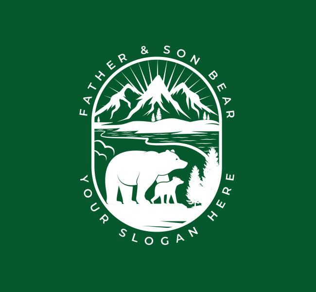 551-Illustrative-Bear-Pre-Designed-Logo