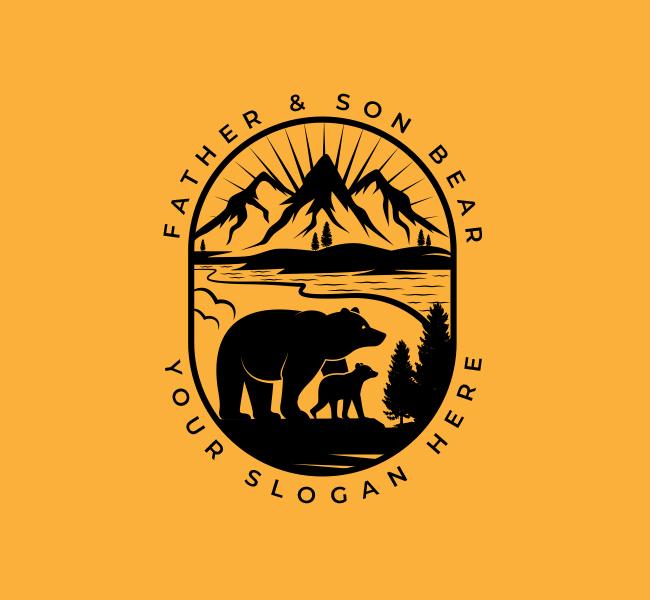 551-Illustrative-Bear-Start-up-Logo