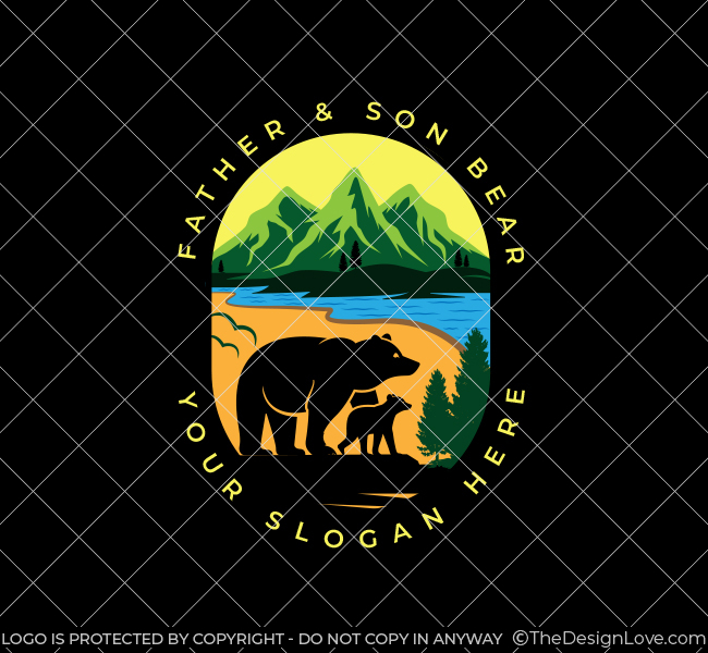 551-Illustrative-Bear-Stock-Logo
