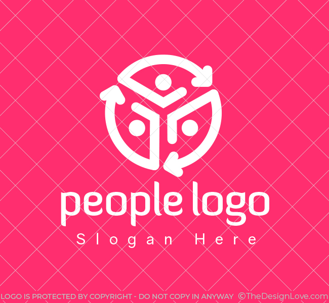 555-People-Communication-Pre-Designed-Logo