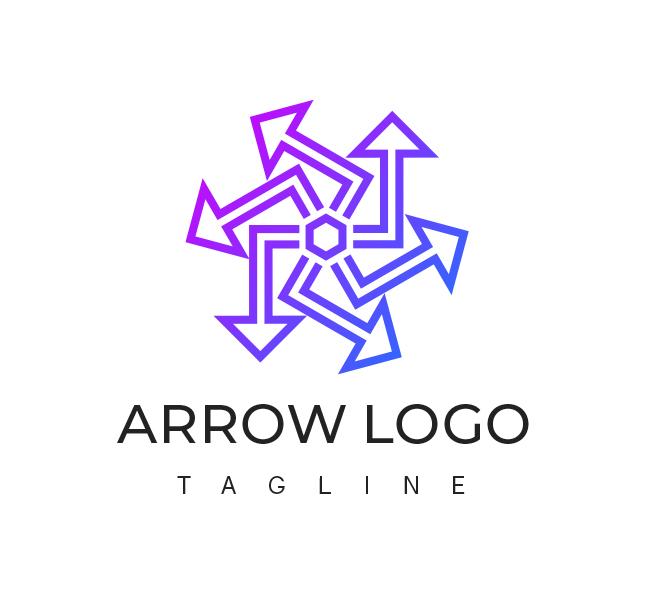 Abstract-Arrow-Logo-Template