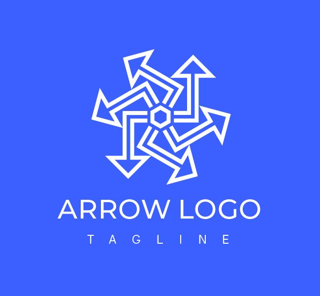 556-Abstract-Arrow-Pre-Designed-Logo