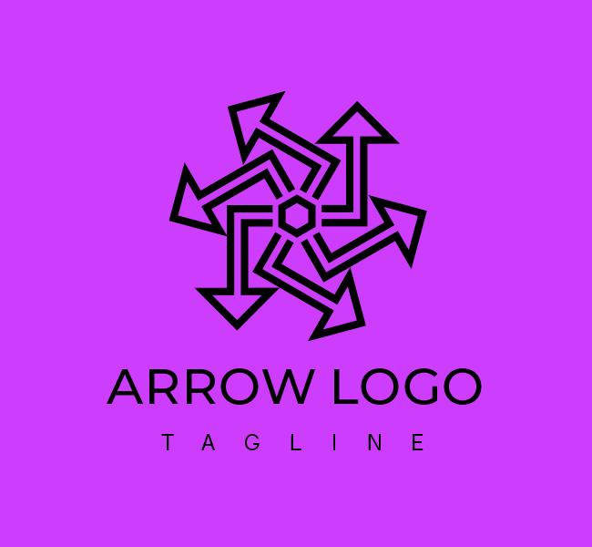 556-Abstract-Arrow-Start-up-Logo