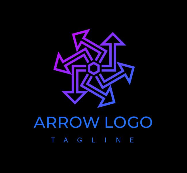 556-Abstract-Arrow-Stock-Logo