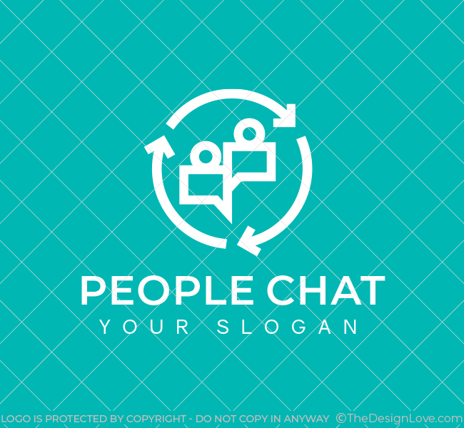 People-Chat-Pre-Designed-Logo