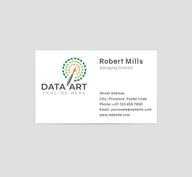 558-Data-Art-Business-Card-Front