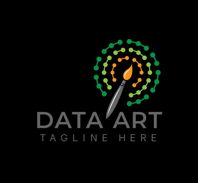 558-Data-Art-Stock-Logo