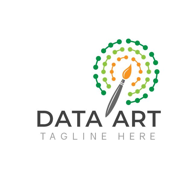 Data Science-Art-Logo-Template