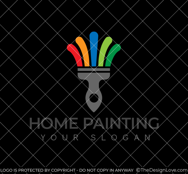 560-Home-Painting-Stock-Logo