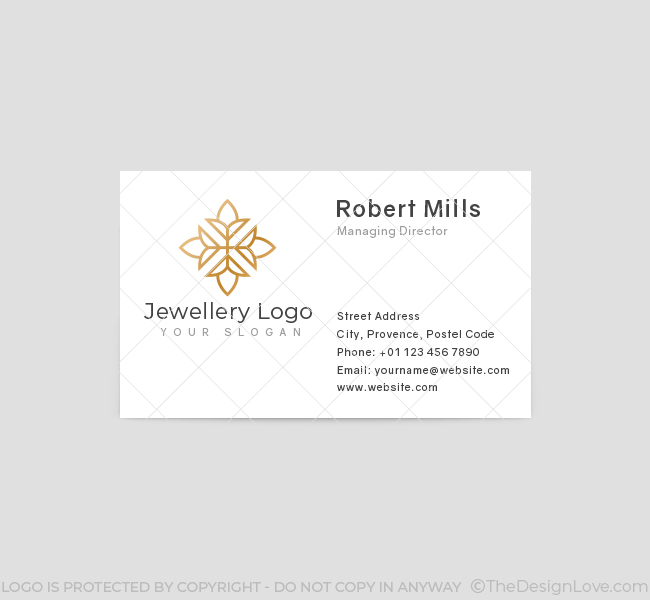 564-Simple-Jewellery-Business-Card-Front