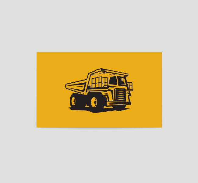 567-Illustrative-Dump-Truck-Business-Card-Back