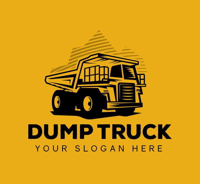 567-Illustrative-Dump-Truck-Start-up-Logo
