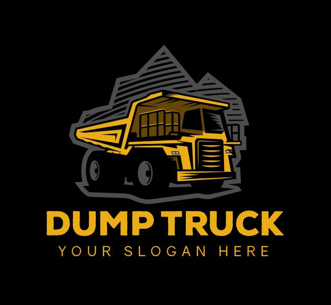 567-Illustrative-Dump-Truck-Stock-Logo