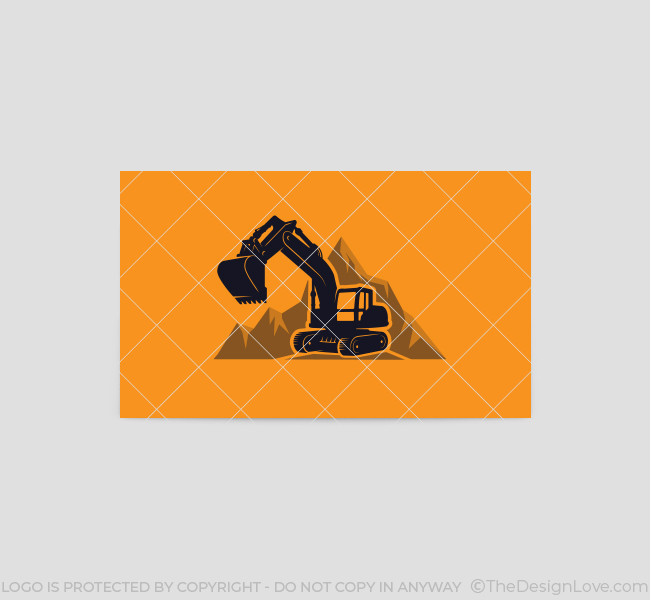 568-Simple-Excavator-Truck-Business-Card-Back