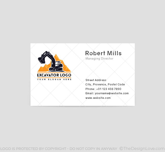 568-Simple-Excavator-Truck-Business-Card-Front