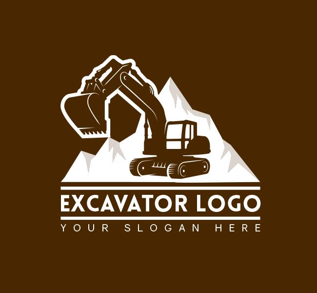 568-Simple-Excavator-Truck-Pre-Designed-Logo