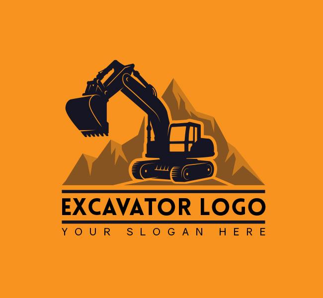 568-Simple-Excavator-Truck-Start-up-Logo