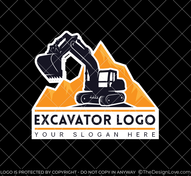 568-Simple-Excavator-Truck-Stock-Logo