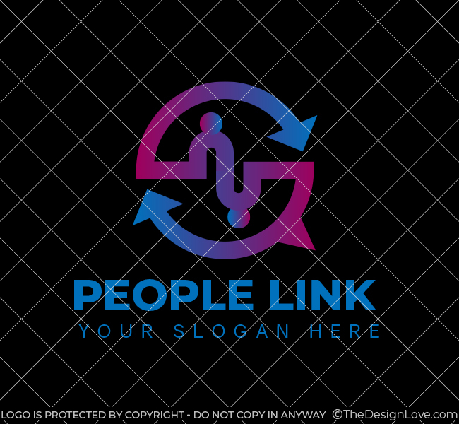 People-Link-Stock-Logo