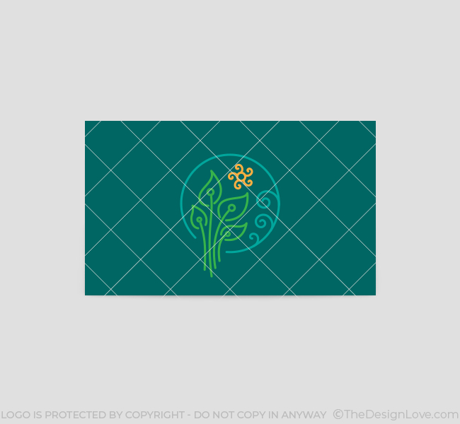 593-Green-Leaves-Business-Card-Back