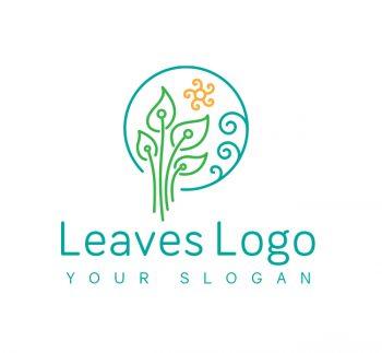 Green Leaves Logo & Business Card