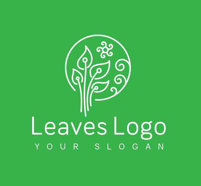 Green-Leaves-Pre-Designed-Logo