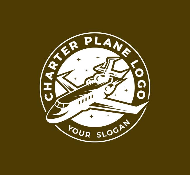 571-Charter-Plane-Pre-Designed-Logo
