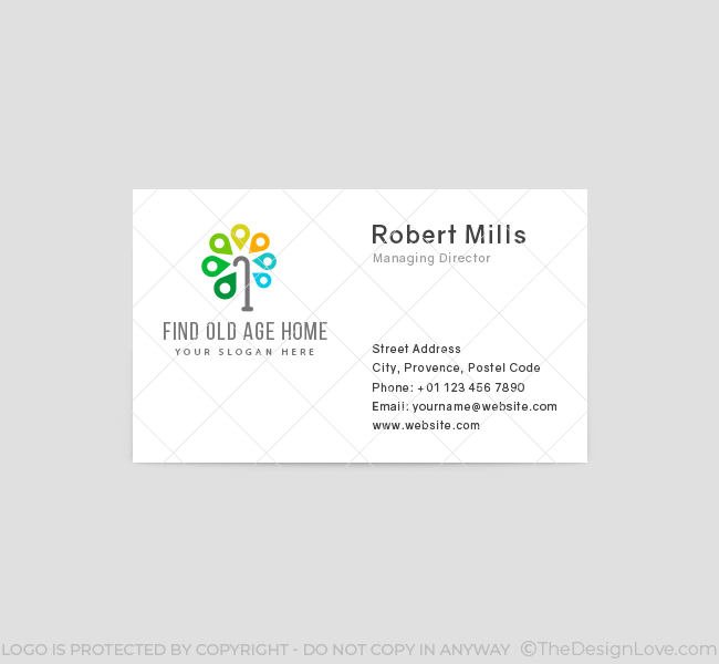 570-Find-Old-Age-Home-Business-Card-Front