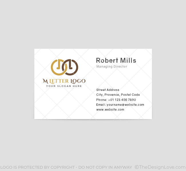 583-M-Letter-Business-Card-Front