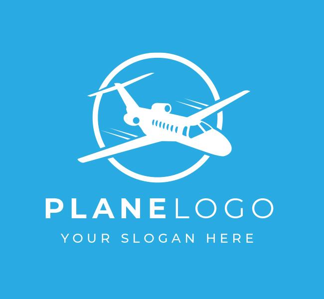 586-Plane-Pre-Designed-Logo