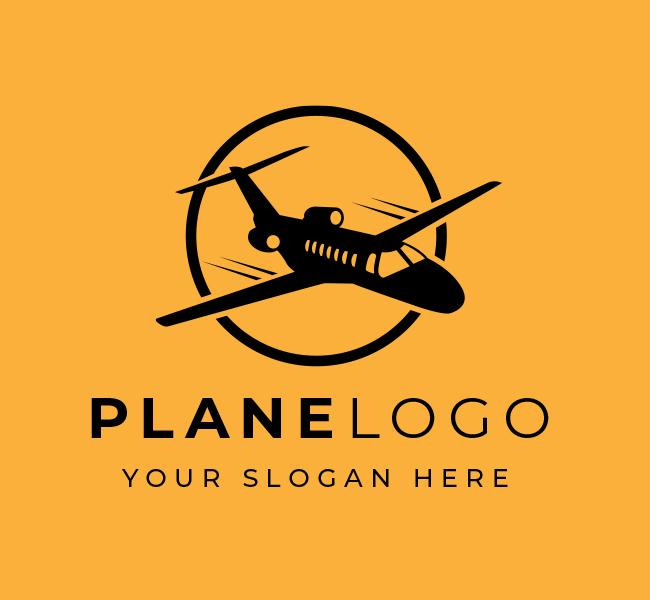 586-Plane-Start-up-Logo