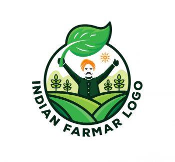 Indian Farmer Logo & Business Card