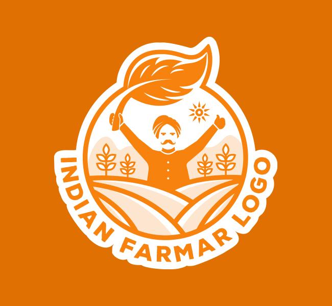 591-Indian-Farmer-Pre-Designed-Logo