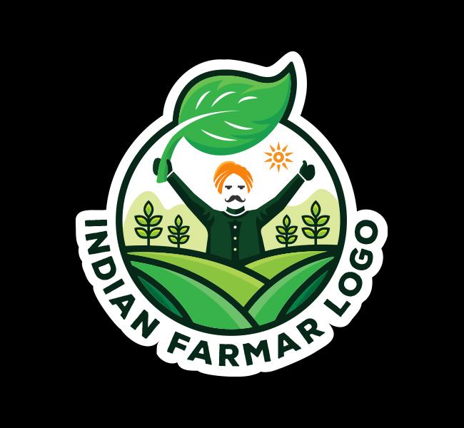 591-Indian-Farmer-Stock-Logo