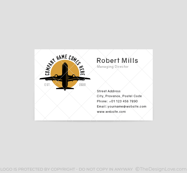 587-Plane-Travel-Business-Card-Front
