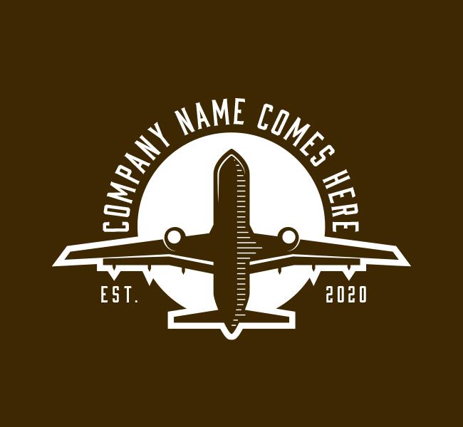 587-Plane-Travel-Pre-Designed-Logo