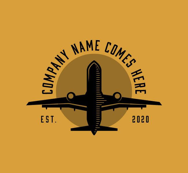 587-Plane-Travel-Start-up-Logo