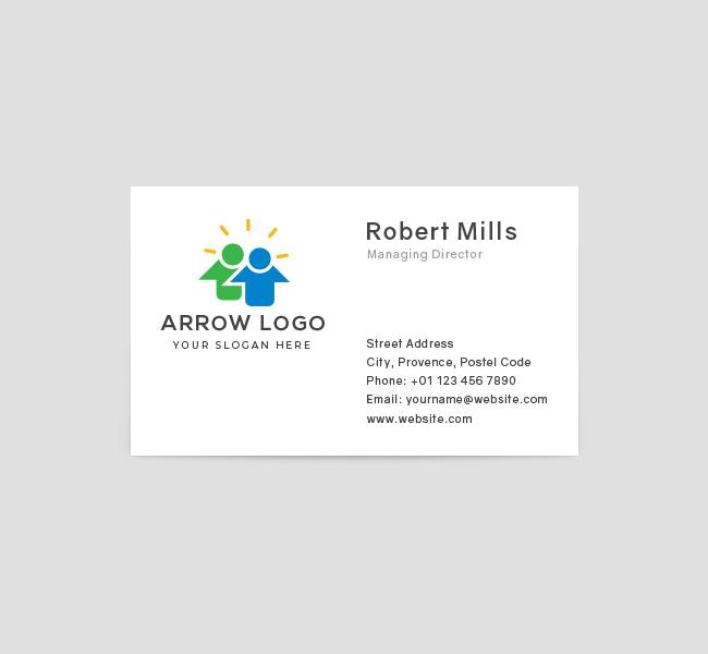 602-Arrow-Logo-Business-Card-Front