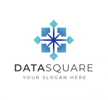 Square Data Science Logo & Business Card