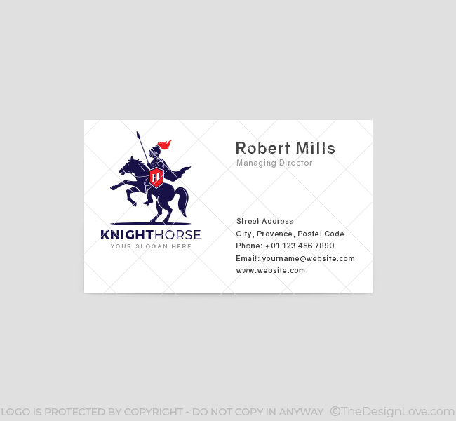 617-Knight-Horse-Business-Card-Front