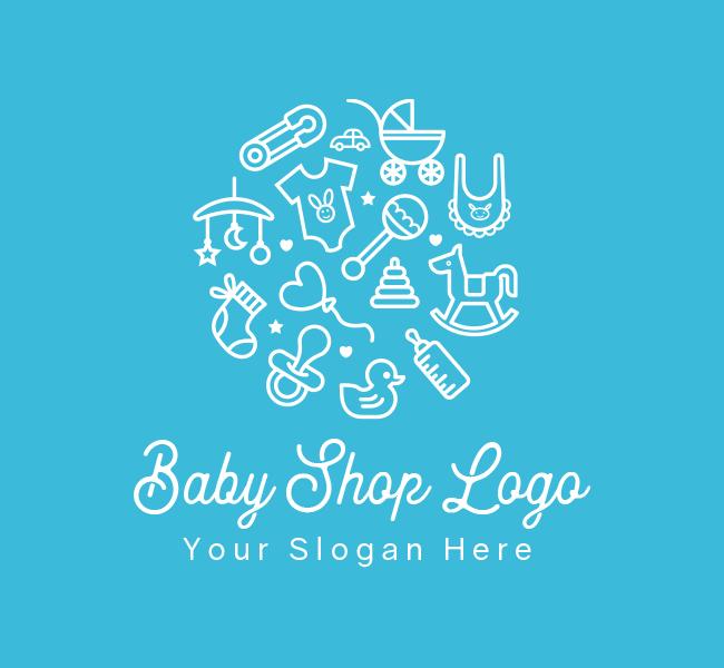 619-Baby-Shop-Pre-Designed-Logo