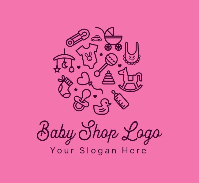 619-Baby-Shop-Start-up-Logo