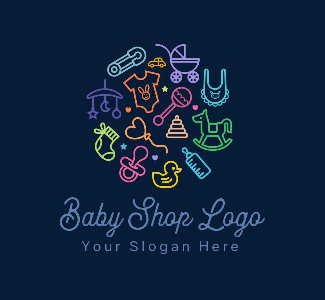 619-Baby-Shop-Stock-Logo