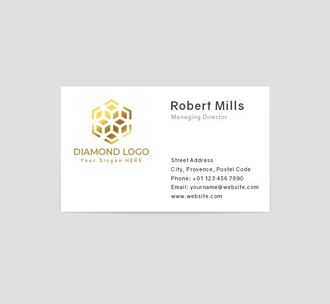 615-Luxury-Diamond-Business-Card-Front
