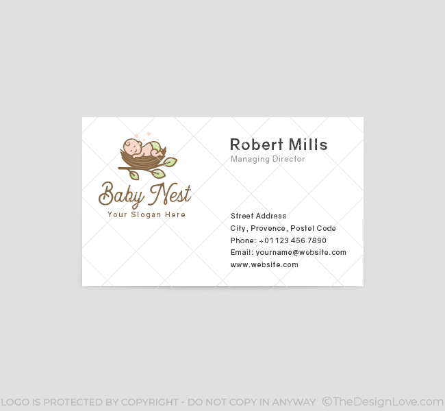 620-Sleeping-Baby-Business-Card-Front