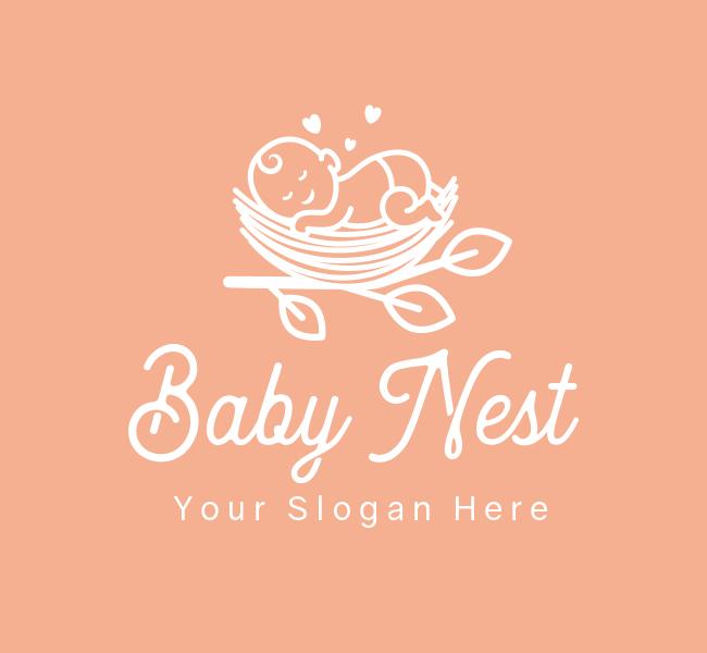620-Sleeping-Baby-Pre-Designed-Logo