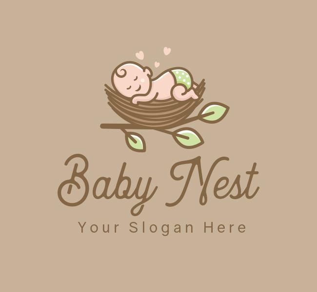 620-Sleeping-Baby-Stock-Logo
