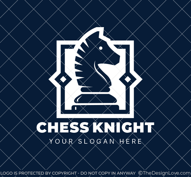 622-Chess-Knight-Pre-Designed-Logo