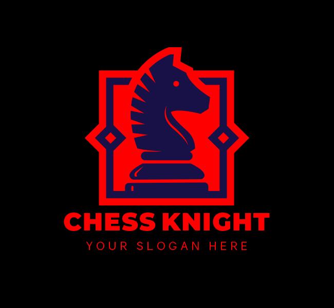 622-Chess-Knight-Stock-Logo
