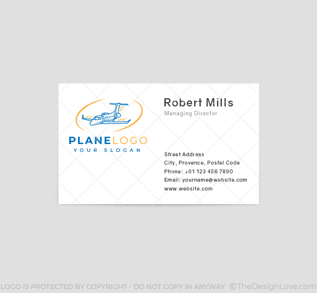 588-Simple-Plane-Travel-Business-Card-Front